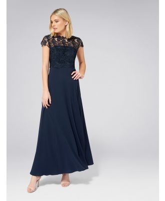 Shanae Lace Top Maxi Dress - Navy