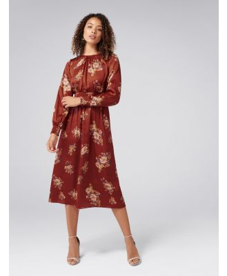 Shona Shirred Waist Midi Dress - Desert Rose