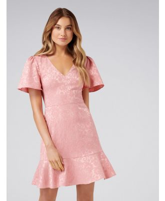 Skye Jacquard Fit and Flare Dress - Maidens Blush