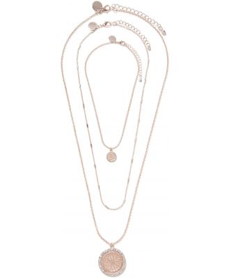 Sutton Three-Pack Diamante and Filigree Necklaces - Rose Gold