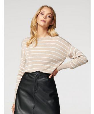 Taylor Stripe Lightweight Knit Jumper - Soft Camel Stripe
