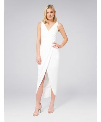 Victoria Wrap Dress - Porcelain