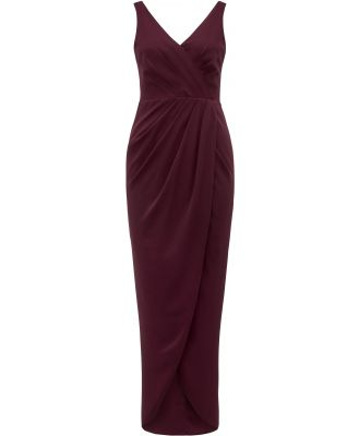 Victoria Wrap Dress - Red Shiraz