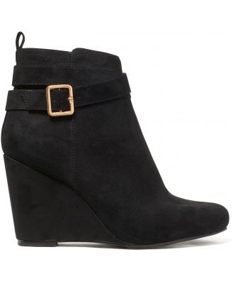Willow Wedge Boot - Black