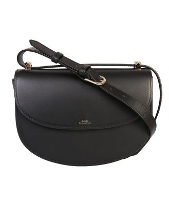 A.P.C. Designer Handbags, Black Geneve Leather Crossbody Bag
