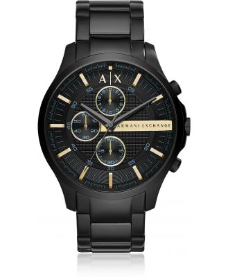 Armani Exchange Designer Men's Watches, Hampton Black Chronograph Men's Watch
