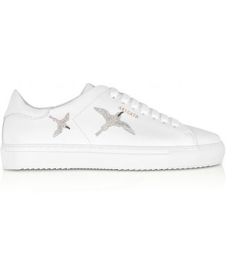 Axel Arigato Designer Shoes, Clean 90 Bird White & Silver Leather Women's Sneakers