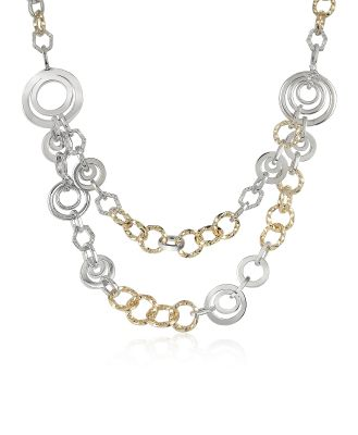 AZ Collection Designer Necklaces, Crystal Chain Opera Necklace