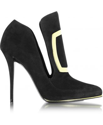 Balmain Designer Shoes, Desiree Black Suede Pump