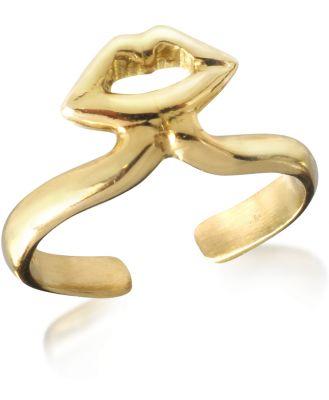 Bernard Delettrez Designer Rings, Bronze Midi Ring w/Mouth