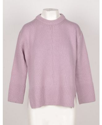 Bruno Manetti Designer Knitwear, Wisteria Wool, Silk and Cashmere Women's Sweater