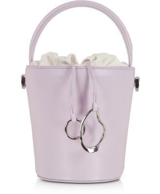 Cafuné Designer Handbags, Lilac Leather Mini Bucket Bag