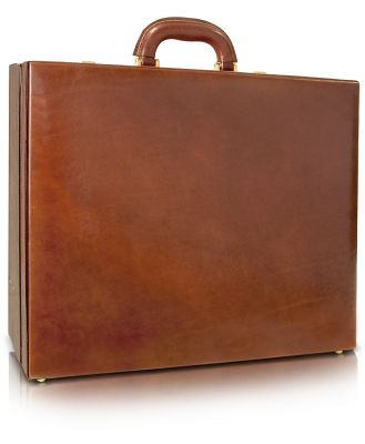 Chiarugi Designer Briefcases, Men's Handmade Brown Leather Attache Briefcase