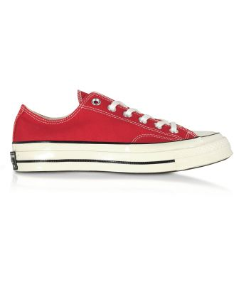 Converse Limited Edition Designer Shoes, Red Chuck 70 w/ Vintage Canvas Low Top