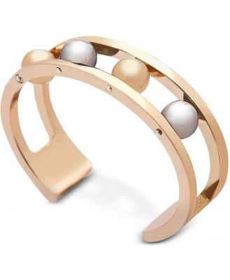 Federica Tosi Designer Bracelets, Two Tone Ball Bangle
