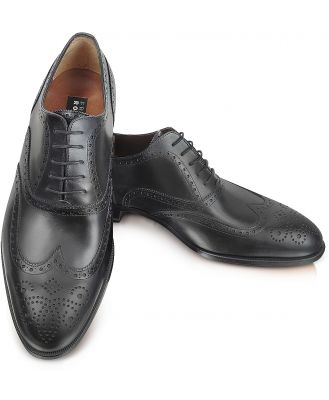 Fratelli Rossetti Designer Shoes, Anilcalf - Black Leather Oxford