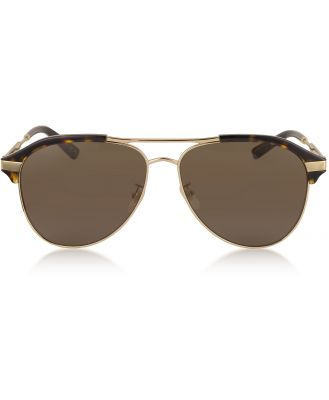 Gucci Designer Sunglasses, Specialized Fit Aviator Metal Sunglasses