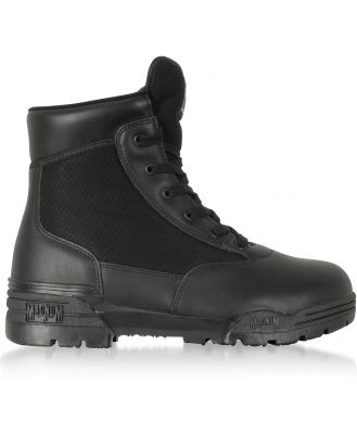 Hi-Tec Designer Shoes, Hi-Tec Magnum 6 Classic Black Mesh and Leather Unisex Boots