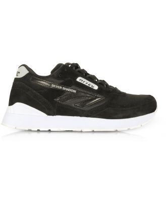 Hi-Tec Designer Shoes, Silver Shadow Black/Cool Grey Mesh and Suede Unisex Trainers