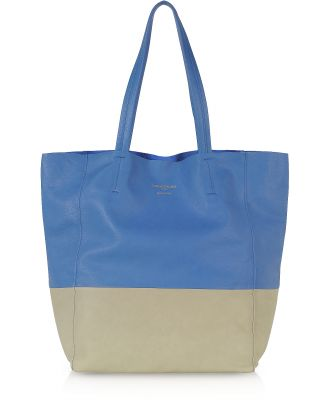 Le Parmentier Designer Handbags, Large Color Block Nappa Leather Tote