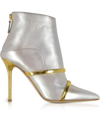 Malone Souliers Designer Shoes, Madison 100 Metallic Nappa Leather Boots
