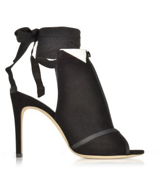 Olgana Paris Designer Shoes, La Jolie Black Suede High Heel Pump