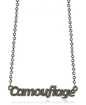 Patrizia Pepe Designer Necklaces, Khaki 'Camouflage' Necklace
