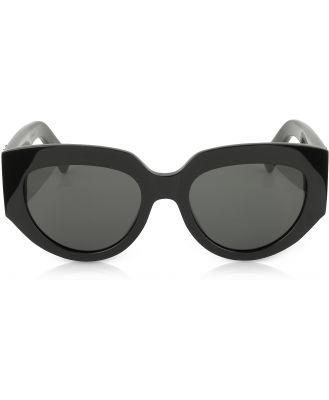 Saint Laurent Designer Sunglasses, SL M26 ROPE Black Acetate Square Cat-Eye Frame Sunglasses