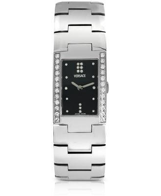 Versace Designer Women's Watches, Greca - Ladies' Stainless Steel and Diamond Watch