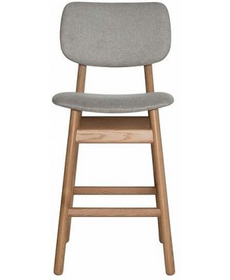 Larsson Counter Stool Strada Grey Natural Legs by Freedom