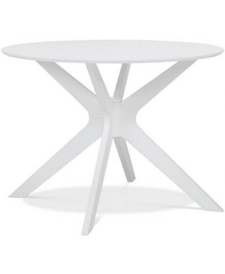 Milford Dining Table 105cm Dia White by Freedom