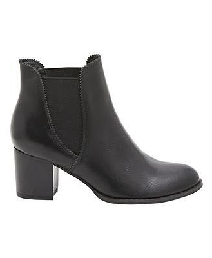 Isabella Brown Sofia Side Gusset Block Heel Boot