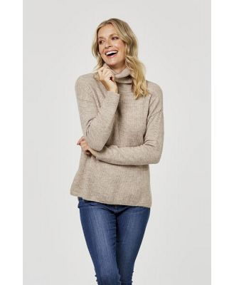 Khoko Collection Kc Cowl Neck Jumper X21kck708 Fawn L
