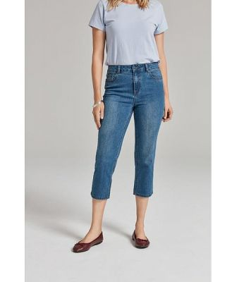 Khoko Denim Straight Crop Length Jean