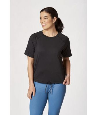 Lma Active Womens Tie Front Active Tee