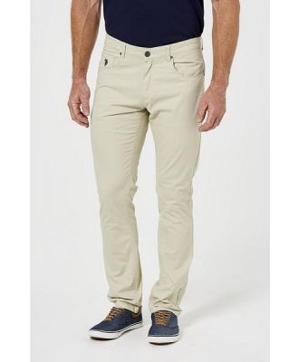 Us Polo Assn Us Polo Mens 5 Pocket Cotton T Sand