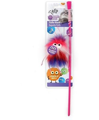 All For Paws Fluffer Wand Yellow Cat Toy