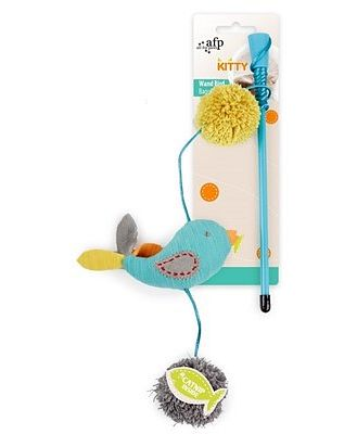 All For Paws Wand Bird Turquoise Cat Toy