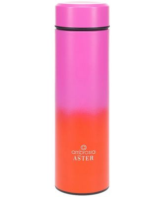 Ambrosia Aster Double Wall Stainless Steel Drink Bottle 450ml Pink