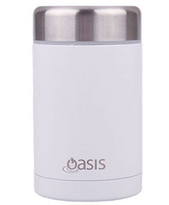 D.Line Oasis Food Flask 450ml Stainless Steel White