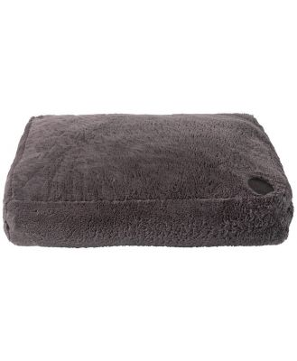 FuzzYard Nanook Plush Dog Pillow Truffle Grey