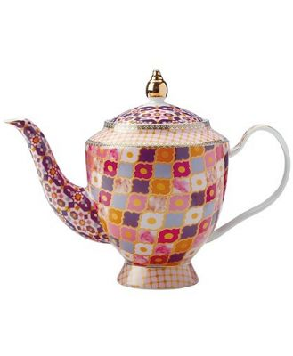 Maxwell & Williams Teas & C's Kasbah Porcelain Teapot with Infuser 1L Rose
