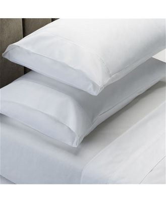 Royal Comfort 1000TC Cotton Rich Sheets & Goose Feather Pillow Pack Queen/White