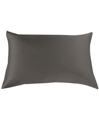 Royal Comfort Silk Pillow Cases & Goose Feather Pillow Pack Charcoal