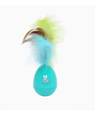 Rufus & Coco Rocking Feathers Cat Toy Green