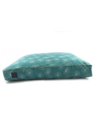 T & S Interior Floor Cushion Quilted Dandelion Teal