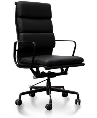 Ashton High Back Office Chair - Full Black by Interior Secrets - AfterPay Available