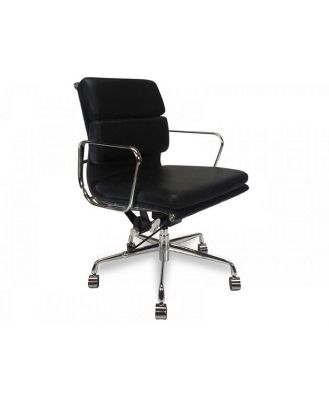 Ashton Low Back Office Chair - Black Leather by Interior Secrets - AfterPay Available