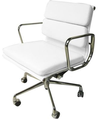 Ashton Low Back Office Chair - White Leather by Interior Secrets - AfterPay Available