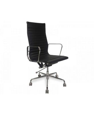 Floyd High Back Office Chair - Black Leather by Interior Secrets - AfterPay Available
